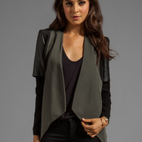 cut25 Drape Front Jacket in Dark Military from REVOLVEclothing.com