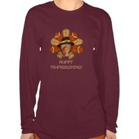 Thanksgiving Turkey T-shirt womens