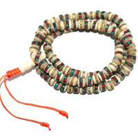White yak Bone meditation prayer beads