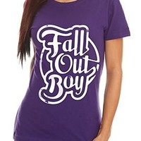 Fall Out Boy Purple Girls T-Shirt - 10003905