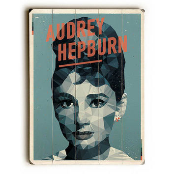 Audrey Hepburn by American Flat Wood Sign