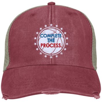 Complete the Process Distressed Embroidered Cap
