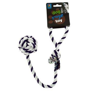 Knotted Sturdy Cotton Rope Dog Toy With Ball Set of 24 Pack
