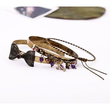 BRITT - Punk Ribbon Bangle Set