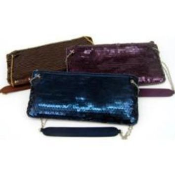 La Regale Evening Clutch Evening Handbags:COLOR Precious Plum