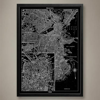 Map Print, BOSTON
