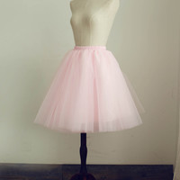 Pink/Yellow/Navy/Brown/Turquoise blue/Black Tulle Petticoat Underskirt Crinoline TUTU Skirt Wedding Dress Pettiskirt