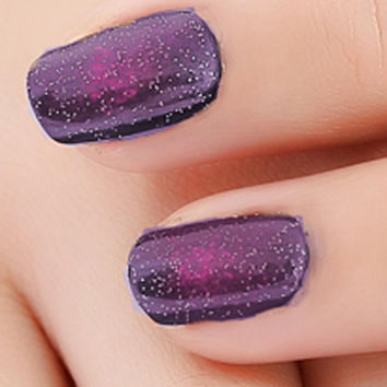 Black Starry Sky Holographic Stamping Nail Polish Long Lasting Quickly Dry Nail Lacquer 8 Color Stamp Holo Enamel Paint