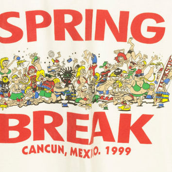 SPRING BREAK CANCUN 1999 tank / vintage deadstock 90s shirt / muscle tee / pacos tacos / beach / party / surfer / mexico / y2k / millennium
