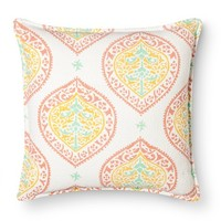 Threshold™ Paisley Medallion Decorative Pillow - Coral