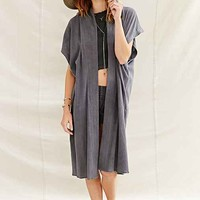 Urban Renewal Recycled Sleeveless Gauze Kimono Jacket-
