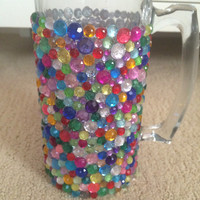 Customizable Rhinestone Beer Mug