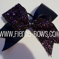 Purple Twinkle Tick Tock Bow