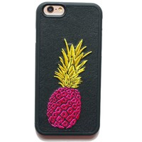 iPhone 6S Case,VIVIPOW [Embroidery Series] Pineapple iPhone 6s And iPhone 6,Pineapple phone case for iPhone 6 And 6S 4.7""