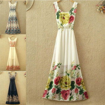 Vintage Women Boho Long Maxi  Party Beach Dress Strapless Print Beach Dress  7_S = 1916591876