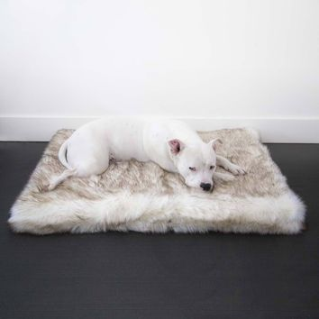 Faux Fur Shag Orthopedic Rectangle Luxury Dog Bed®