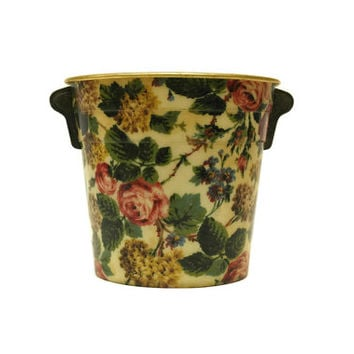 Romantic French Rose Champagne Bucket. Vintage Barware French Wine Cooler.