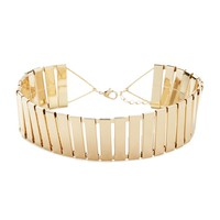 Metallic Cutout Choker