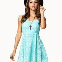 Fit & Flare Eyelet Dress