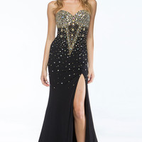 KC14111 Jeweled Strapless Prom Dress by Kari Chang Couture