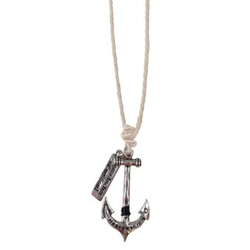 Jesus Is The Anchor Of My Soul Men's Necklace