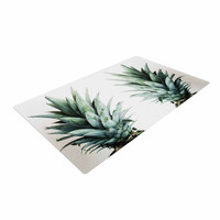 "Chelsea Victoria ""Two Pineapples"" Green Gold Woven Area Rug"