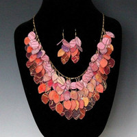 Sunset Fabric Necklace