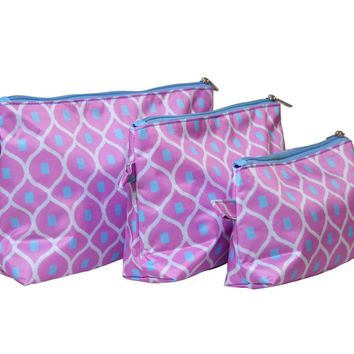 Good Catch 3 Piece Cosmetic Bag Set