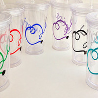 2 Stethoscope & Name Tumblers Nurse, Doctor, Practitioner, Medical Student, RN, NP, Physician's Assistant. Heart. Graduation. Special Gift