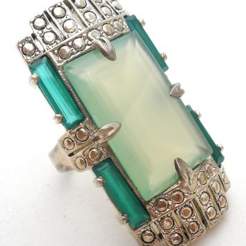 Nicky Butler Green Chalcedony 925 Ring