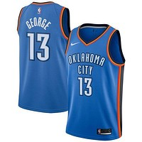 Paul George Oklahoma City Thunder # 13 Nike Blue Swingman Icon Edition Jersey
