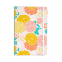 "Anneline Sophia ""Peonies Peach"" Yellow Pink Everything Notebook"