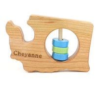 Washington State Wooden Baby Rattle™