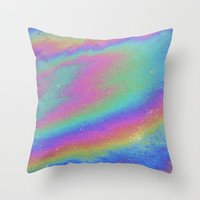 Holographic Throw Pillow by Nestor2