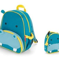 Skip Hop Backpack and Lunchie Set- Hippo