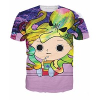 Acid Stewie Family Guy's Stewie Griffin All-Over Print Sublimated Purple T-Shirt