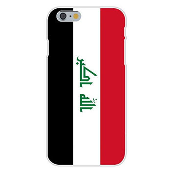 Apple iPhone 6 Custom Case White Plastic Snap On - Iraq - World Country National Flags