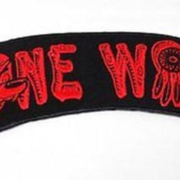 "Lone Wolf Red Dream Catcher 11"" x 2.75"" Back Rocker MC Biker Vest Patch HEY-0069"