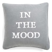 Levtex 'In the Mood/Not in the Mood' Square Pillow
