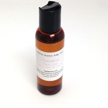 Lavender and Rose Hip Cleansing Face Oil, Makeup Remover, Natural Moisturizer, Stocking Stuffer, Calming Lavender