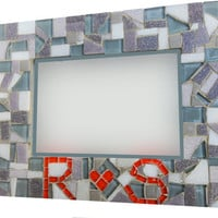 Custom Mosaic Picture Frame with Initials