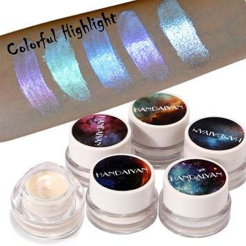 HANDAIYAN Glitter Eyeshadow Palette Holographic Shade Eye Lip Face Makeup Shimmer Highlighter Cream Nude Eye Shadow #258787