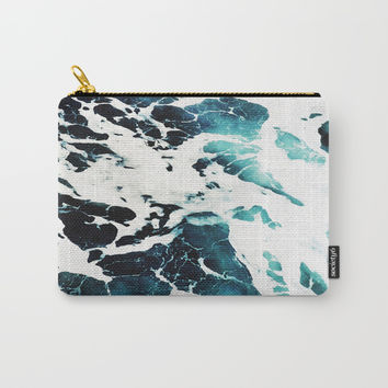 Dark Ocean Waves Carry-All Pouch by cadinera