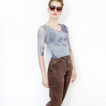 CIJ SALE - 20% Off Vintage jeans / 80s Giorgio Armani tapered brown jeans / size S