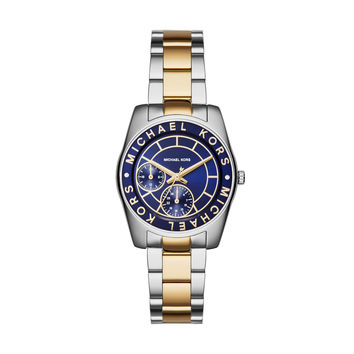 MICHAEL KORS WATCH  WOMEN JETSET RYLAND STAINLESS STEEL MK6195