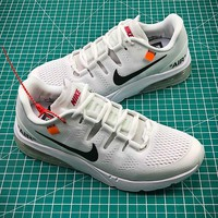 Off White x Nike Air Max 2018 White Sport Running Shoes - Best Online Sale