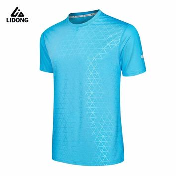 2017 Men's Sportswear Running Shirt Men Sport T-shirt Outdoor Jogging Tops Gym Loose Training Dry Fit Short Sleeve Uniform Women