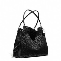 MADISON SMALL PHOEBE SHOULDER BAG IN CHENILLE OCELOT