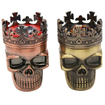 Tobacco Pipes & Accessories Skull style plastic smoke grinder three layers of smoke manual smoke device