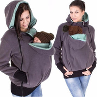 Baby Carrier Jacket Hooded Zipper Coat For Baby Wearing